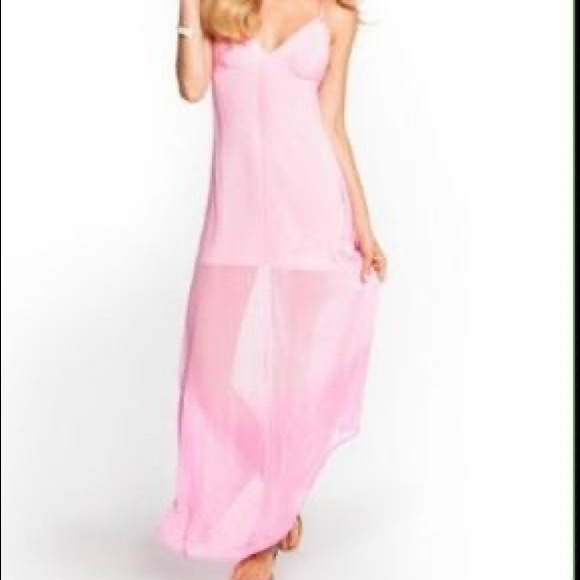 GUESS pink ombré maxi dress